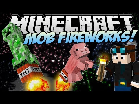Minecraft | MOB FIREWORKS! (Celebrate, Minecraft Style!) | Mod Showcase