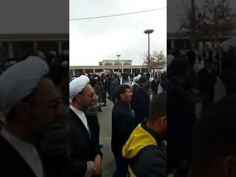 Martyr Qasim Sulemani Body In Mashad  
