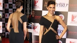 Deepika Padukone Sexy BACKLESS Studded at Piku Success Party !