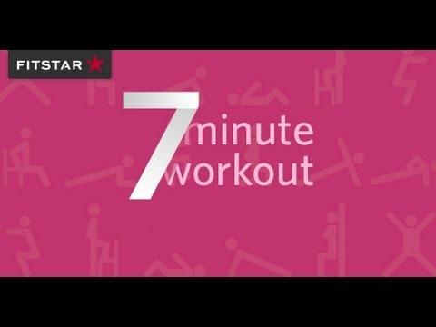 fitstar 7 minute workout youtube. Black Bedroom Furniture Sets. Home Design Ideas