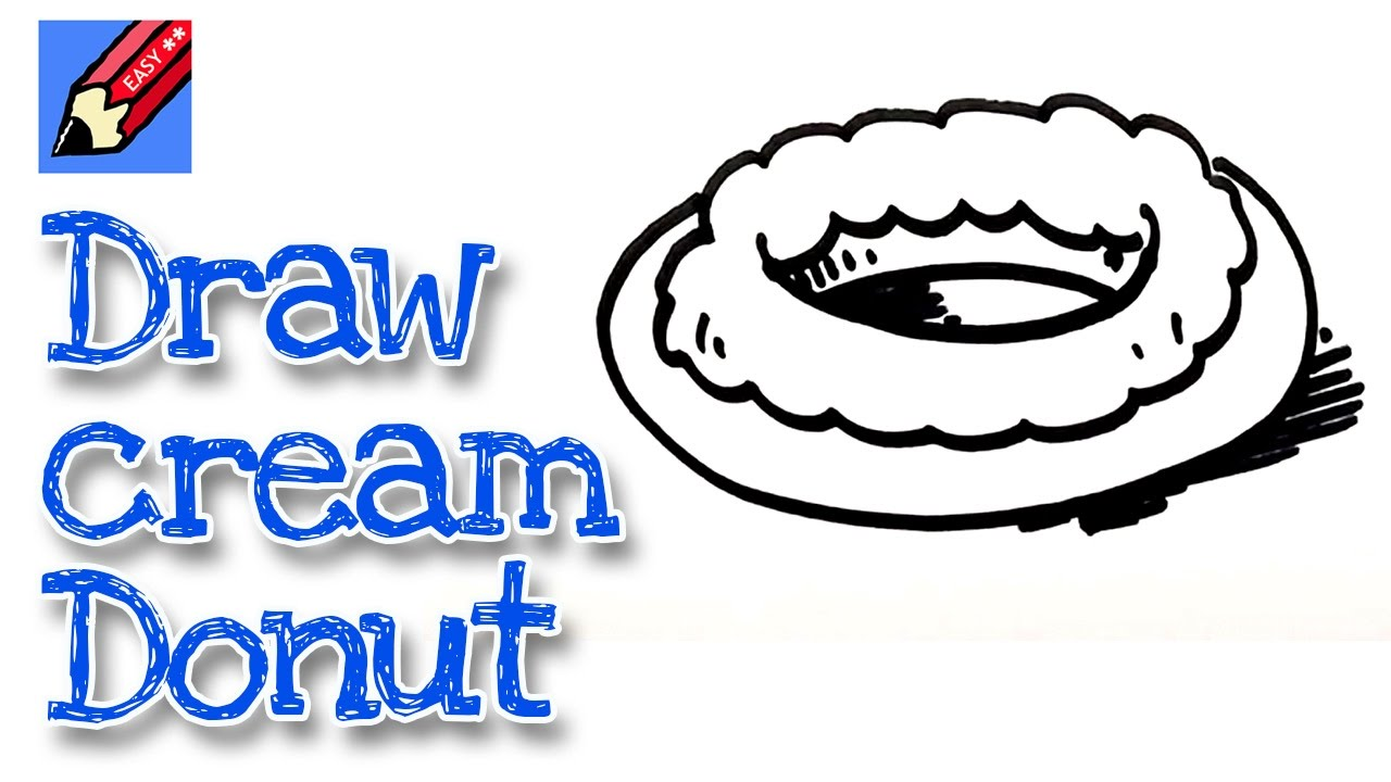 how to draw a donut easy