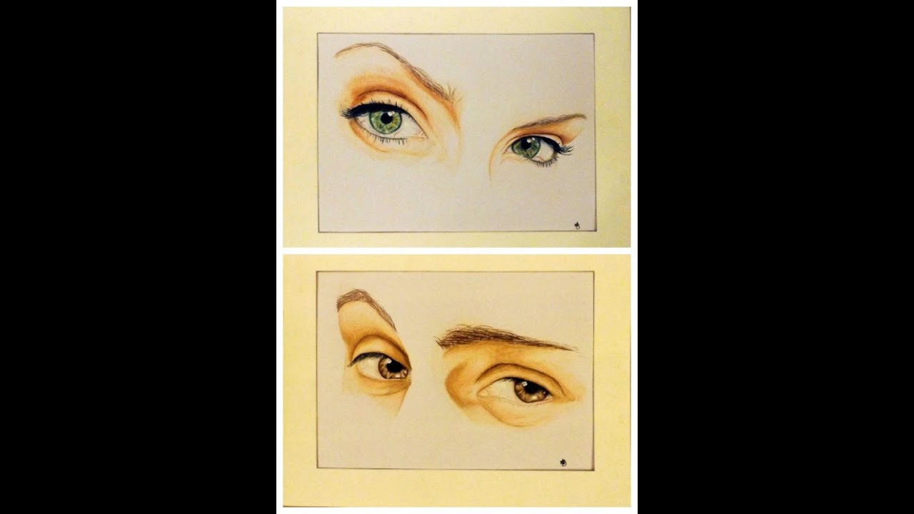 Sharp Eyes Drawing 'me Him' Eyes Speed Drawing