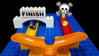 MARBLE MORTAL KOMBAT - Halfpipes with Funnel RACE - Mini tournament