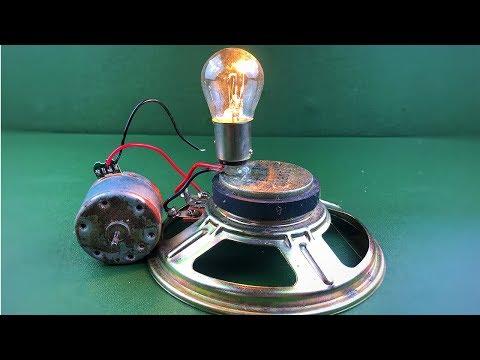 Free Energy Generator With Speaker Magnet & DC Motor , Homemade Science Technology 2018 thumbnail