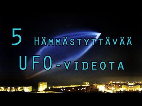 5 Hämmästyttävää UFO-videota