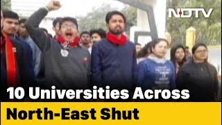 Students Boycott University Classes In Northeast As Amit Shah Refuses To Rollback CAA