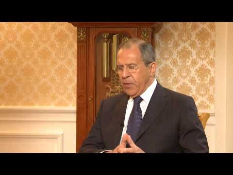 Sergey Lavrov gives interview to
