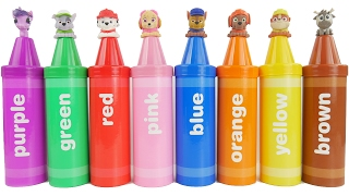Learn colors with crayons and Paw Patrol