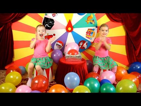 МИЛАШКИ ШОУ #1 Челлендж детское питание Киндер сюрприз Много игрушек конфет воздушных шаров