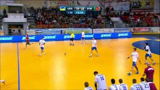 Handball. Ukraine - Portugal. 30-04-2015.