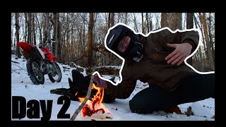 Surviving In The Woods (PITBIKE) - 24 HOUR CHALLENGE