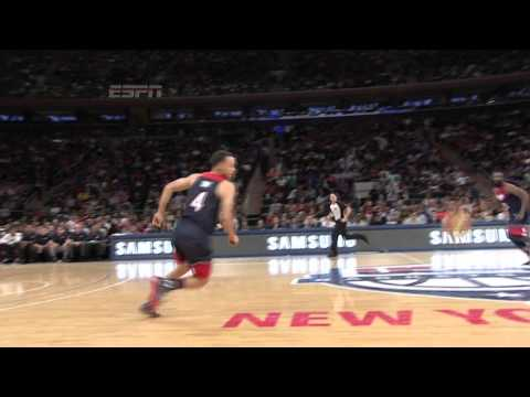Stephen Curry No-Look Pass to James Harden (VIDEO)