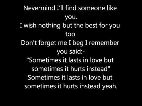 Adele - Someone Like You! Lyrics..mp4