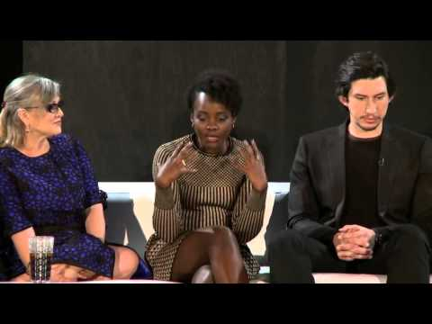 Star Wars The Force Awakens Carrie Fisher, JJ Abrams, Lupita Wyong'o, Daisy Ridley,  Adam Driver