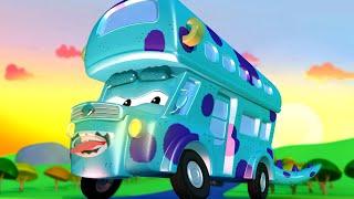 những chiếc xe tải dành cho thiếu nhi Denver XE BUÝT HAI TẦNG là SULLIVAN trong Công Ty Quái Vật!