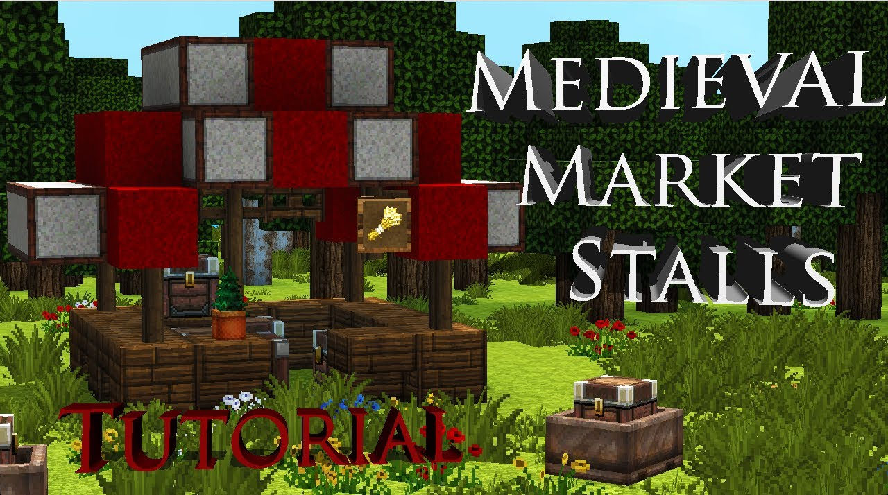 Minecraft Medieval Market Stalls TutorialLets Build