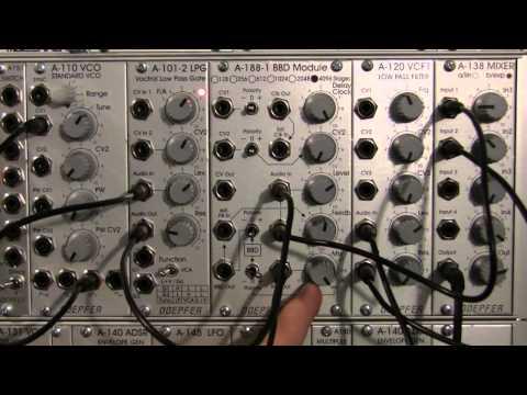 Doepfer A188-1 BBD Basics- Audio Demo Part 1 -Setup and Filtering