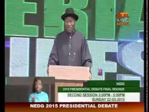 NEDG Presidential Debate 2nd Session 22-03-2015