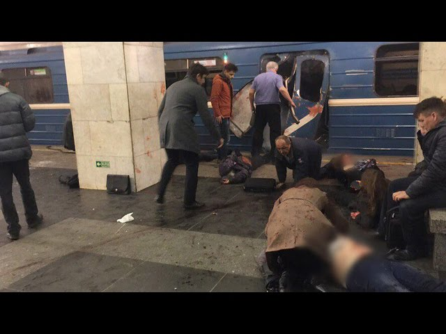 St Petersburg metro station explosion 'killed at least 10'