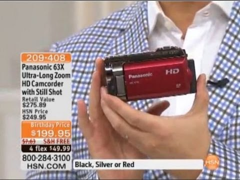 Panasonic HC-V10 HD Camcorder 63X Optical 70X Enhanced Zoom