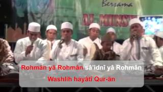 download lagu Al Munsyidin _ Ya Rohman +  Latin gratis