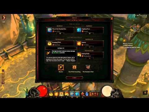 Diablo 3 Monk dual wield for Inferno Act 2 9k dps (Part I)