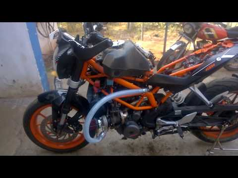 KTM duke 390 turbo , turbocharged bike india.