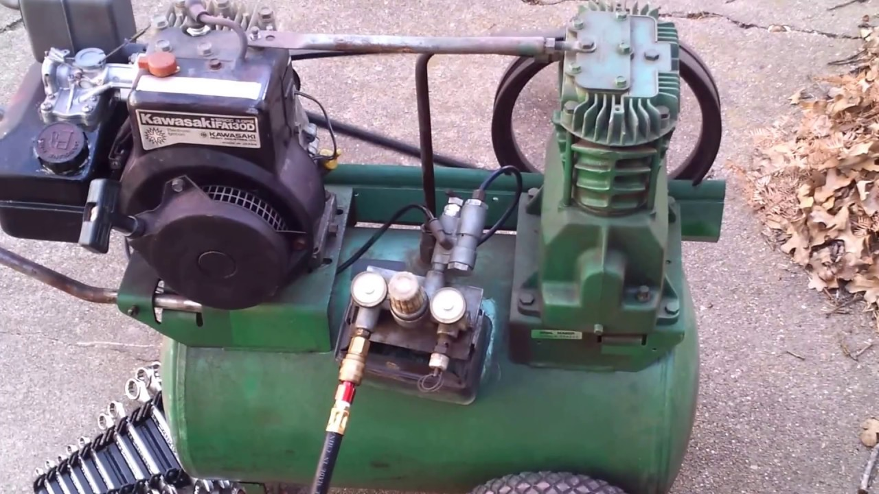 Speedaire Gas Air Compressor With Kawasaki Engine Youtube