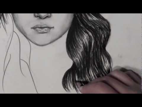 Видео как нарисовать Селену Гомес карандашом поэтапно