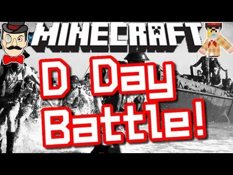 Minecraft D-DAY BATTLE ! Clay Soldiers #120 !