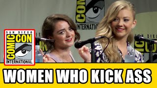 Game of Thrones Maisie Williams & Natalie Dormer Interview - Comic Con Women Who Kick Ass Panel