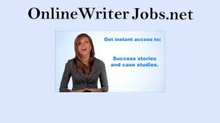 "Online Writer Jobs- ""Get Paid To Write At Home!"""