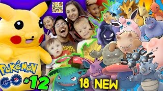 POKEMON GO! Got 18 New Creatures w/ Pikachu & FGTEEV Family (Part 12 Massive Evolving Gameplay)