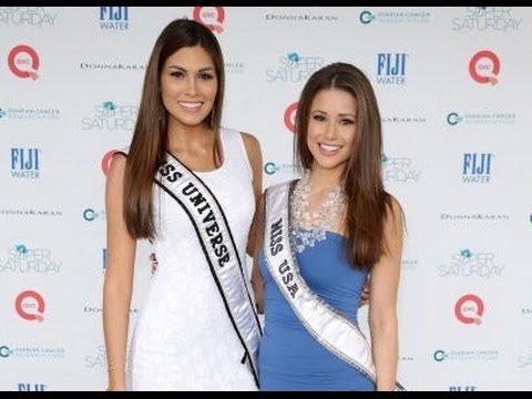 Miss Universe 2013, Gabriela Isler y Miss USA 2014, Nia Sanchez en OCRF's 17th Annual Super Saturday