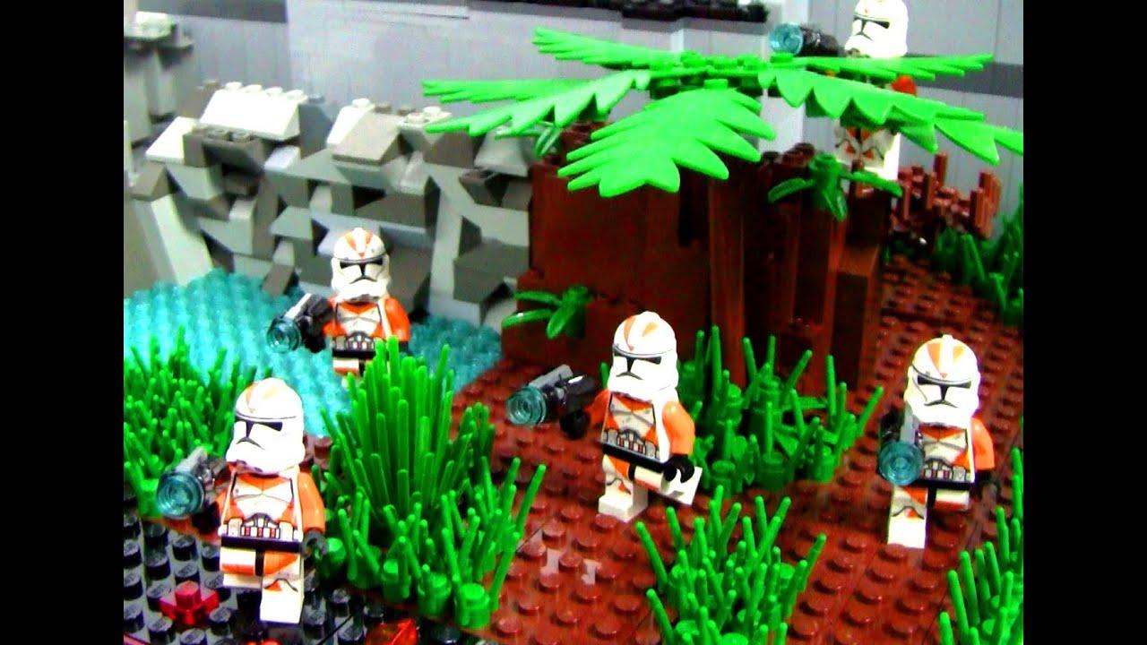 Lego Star Wars Republic Training Outpost Moc Youtube