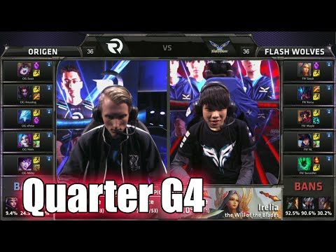 Origen vs Flash Wolves Game 4 | Quarter Finals LoL S5 World Championship 2015 | FW vs OG G4 Worlds