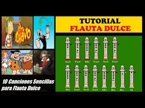 Diez Canciones Sencillas para Flauta Dulce + Notas Explicadas