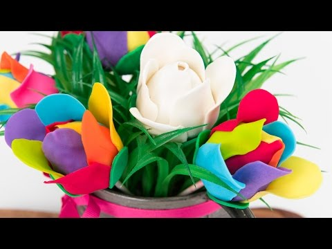 How to Make Rainbow Rose Cake Pops