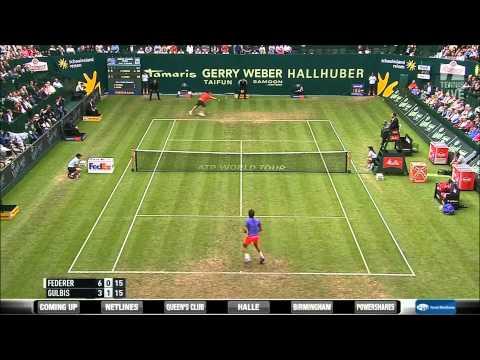 Roger Federer vs Ernests Gulbis 2015 Gerry Weber Open HD Highlights