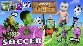 PVZ SOCCER FAMILY BATTLE! Lets Play Plants vs. Zombies Garden Warfare 2 #5 (FGTEEV FUN MINI-GAME!)