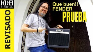 Prueba: FENDER Bassbreaker a válvulas!