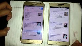 Samsung Galaxy J7 vs Samsung Galaxy A7 Speed Comparison - Hindi