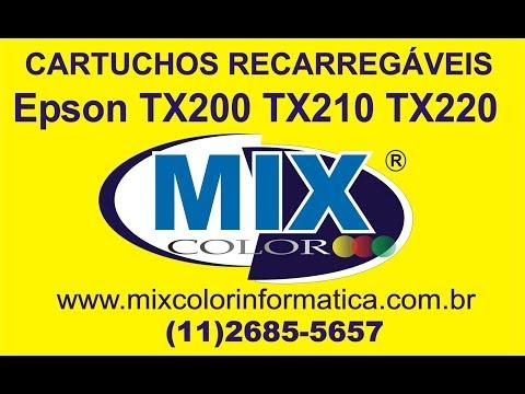 Instalação Completa do Bulk Ink Epson TX220 TX210 TX200