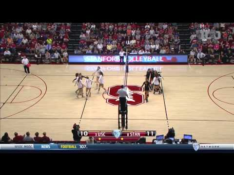 Women's Volleyball: USC 3, Stanford 2 - Highlights (9/27/15)