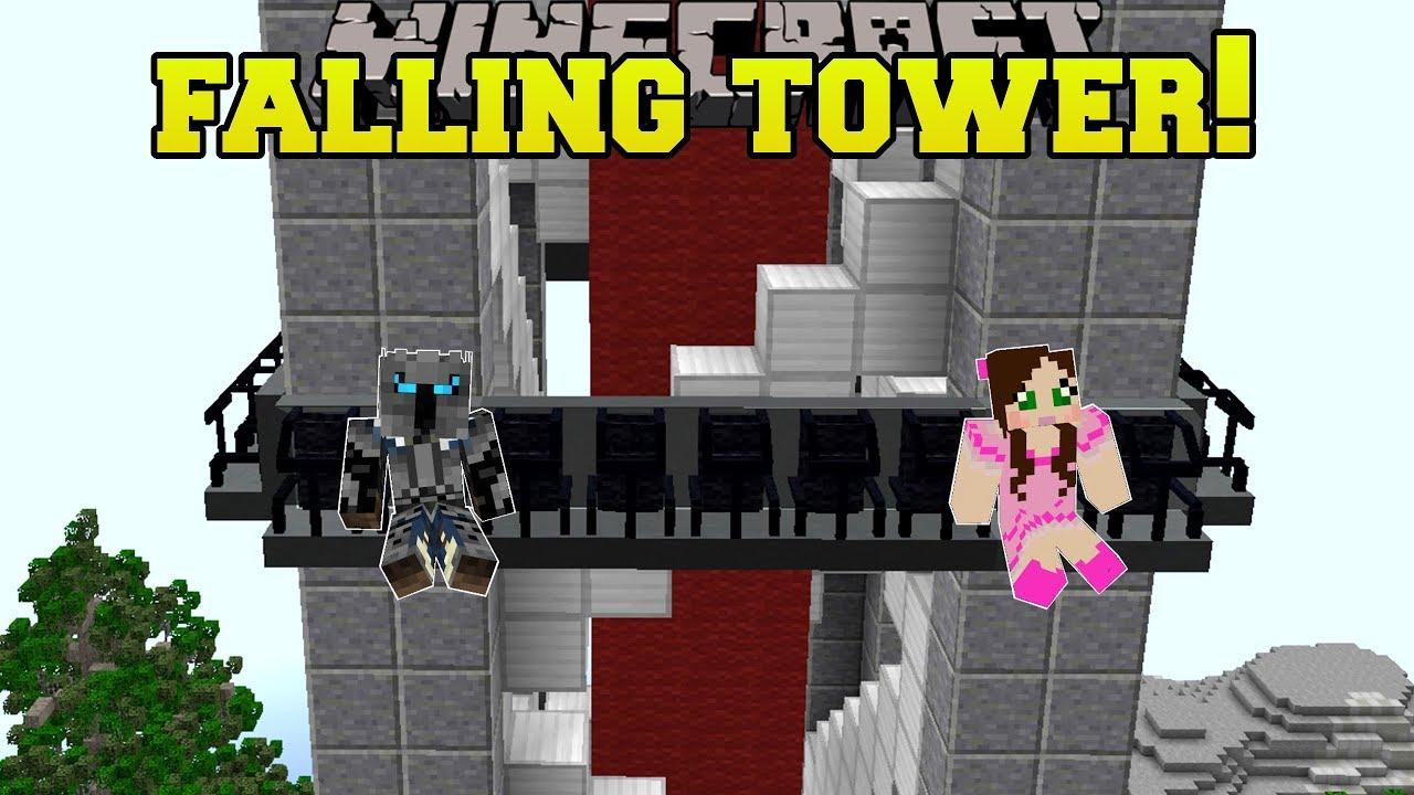 Minecraft: FALLING TOWER RIDE!!! - HERO FAIR [4]
