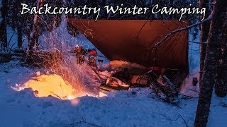 Backcountry Winter Camping After a Snowstorm