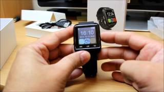 UWatch U8 Bluetooth Smart Watch for Android mobile review and how to instal Smart Watch Helper App