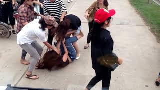 Nữ sinh đánh nhau tại hồ Quan Sơn - Sóc Sơn
