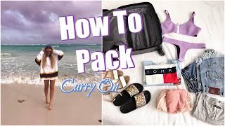 How To Pack // Carry On Beach Vacation