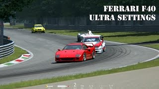 Assetto Corsa Ferrari F40 on Monza - Ultra settings + replay on Full HD 1080p